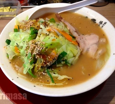ラーメン横綱 一乗寺店 - 横綱で野菜を取る