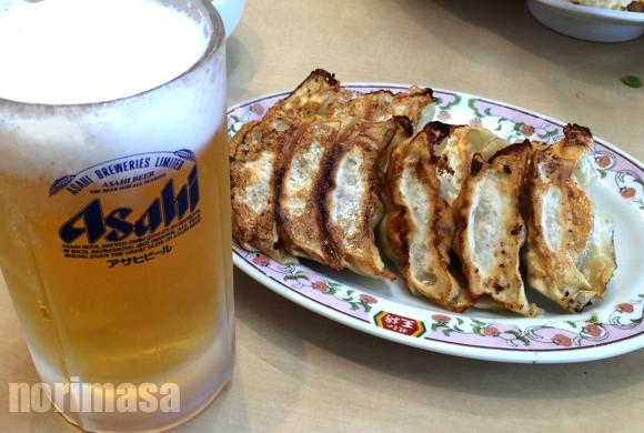 餃子の王将 深草竹田店 - ビールと餃子のコンビ