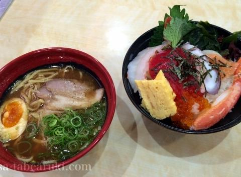 無添くら寿司 京都伏見店 - ラーメンと海鮮丼を食べる