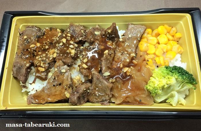 「いきなり!ステーキ」監修のアンガスビーフステーキ重を食べてみた(ミニストップ)